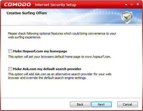 Disable Hopsurf.com homepage an Ask.com as the default search provider.