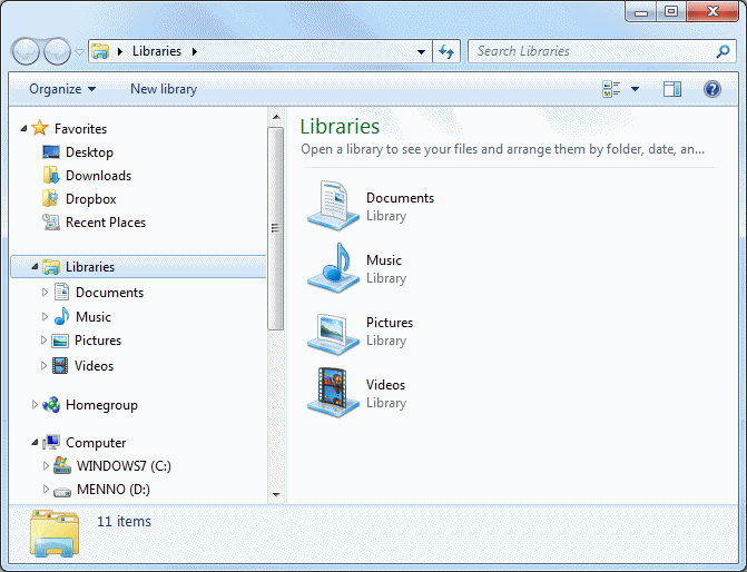 Windows Explorer (Windows 7)